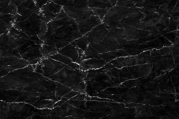 Natuurlijke zwarte marmeren textuur voor het behang luxueuze achtergrond van de huidtegel Premium Foto