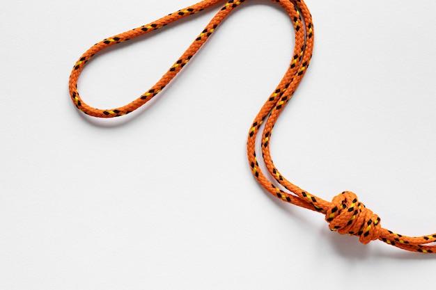 Nautische oranje touwknoop Gratis Foto