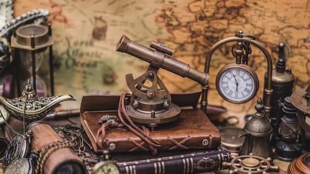 Nautische sextant meetinstrument Premium Foto
