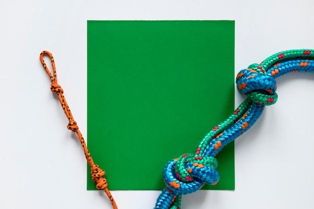 Nautische touwknopen bovenaanzicht Gratis Foto