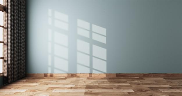 Neo mint lege kamer wit op houten vloer interieur Premium Foto