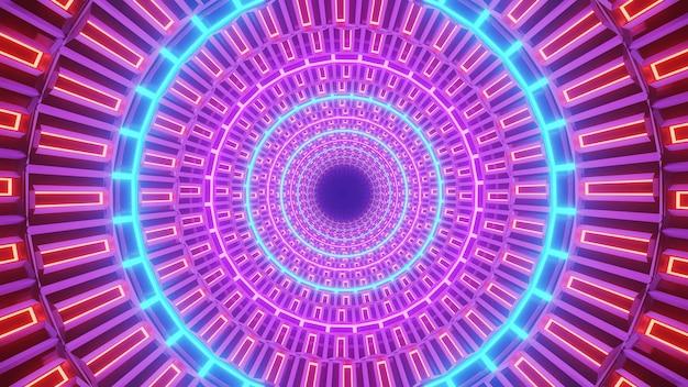 Neonlichten in cirkel Gratis Foto