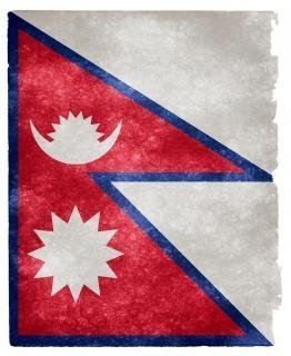 Nepal grunge vlag Gratis Foto