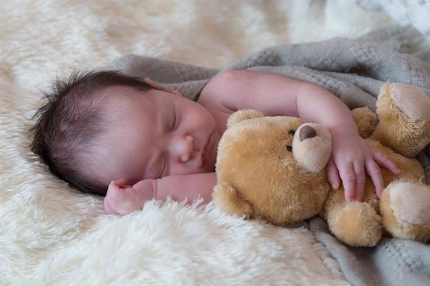 Net geboren baby Premium Foto