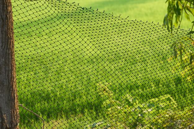 Net gemaakt door nylon in de kudde kweekvoordeel Premium Foto