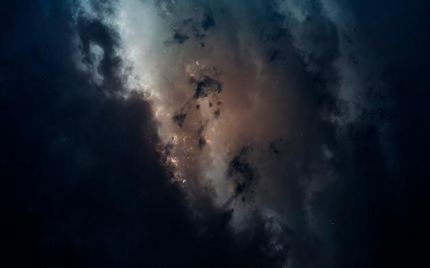 Nevel in de ruimte Premium Foto