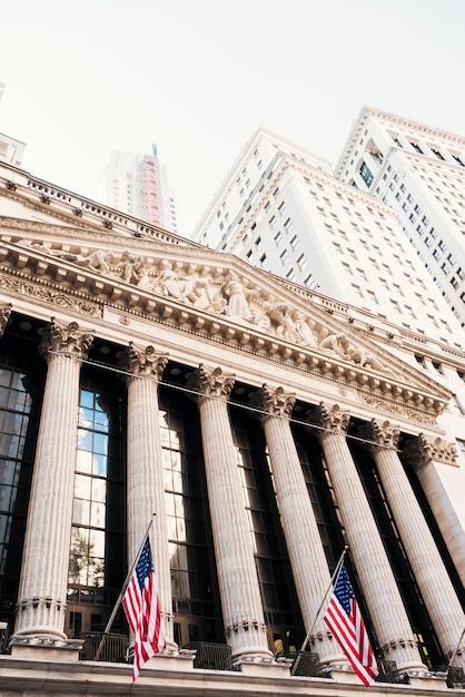 New york stock exchange en gebouwen van wall street Gratis Foto