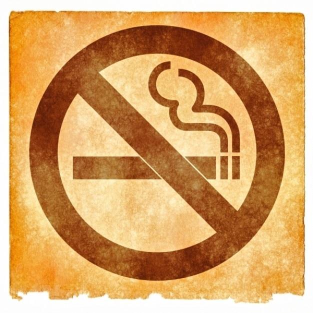 Niet roken grunge teken Gratis Foto