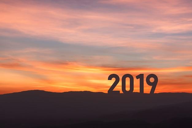 Nieuw jaar 2019 Premium Foto