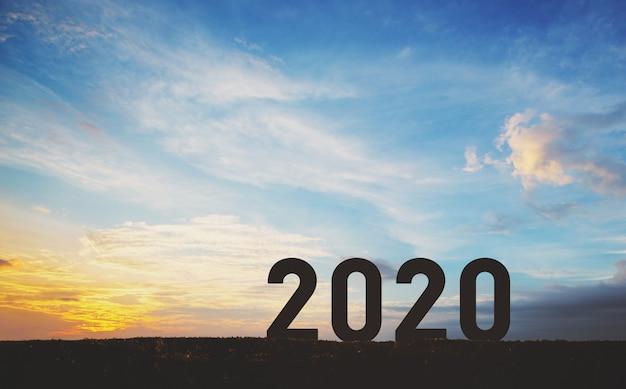 Nieuw jaar 2020 Premium Foto
