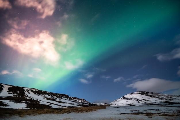 Noorderlicht aurora borealis Premium Foto
