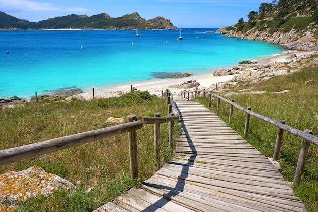 Nostra senora-strand in islas cies-eilanden van vigo Premium Foto
