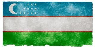 Oezbekistan grunge vlag Gratis Foto