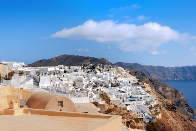 Oia dorp, santorini eiland, griekenland Premium Foto