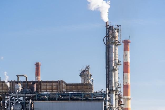 Olie petrochemische fabriek Premium Foto