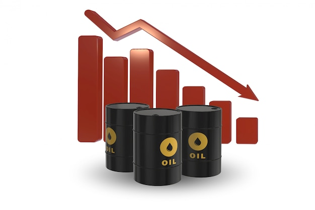 Olieprijzen dalen Premium Foto