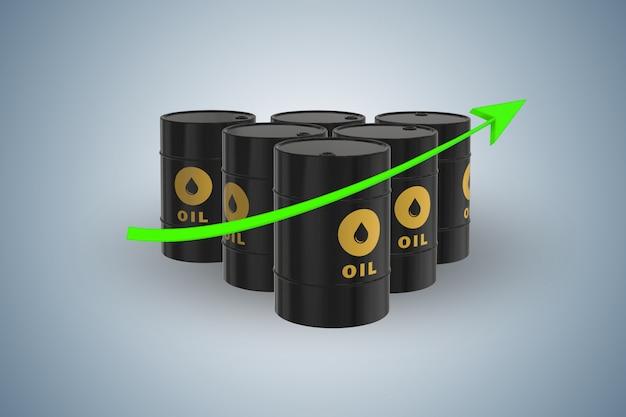 Olieprijzen opgroeien Premium Foto