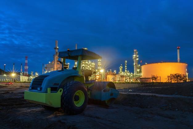 Olieraffinaderij plant. Premium Foto