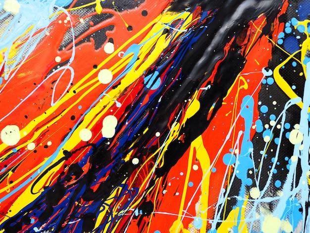 Olieverf kleurrijke splash drop zoete kleuren abstracte achtergrond en textuur. Premium Foto