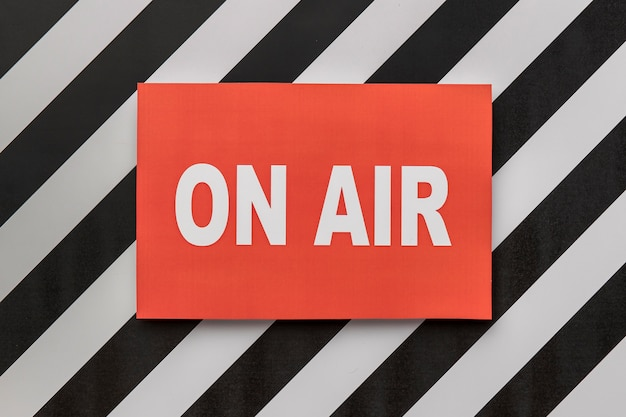 On air live radio streaming banner Premium Foto