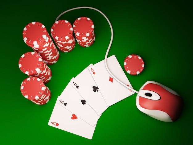 Online poker Premium Foto