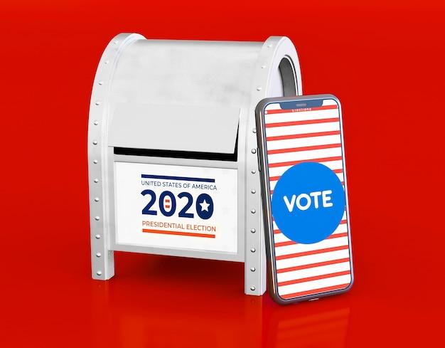 Ons verkiezingenconcept met exemplaarruimte Gratis Foto