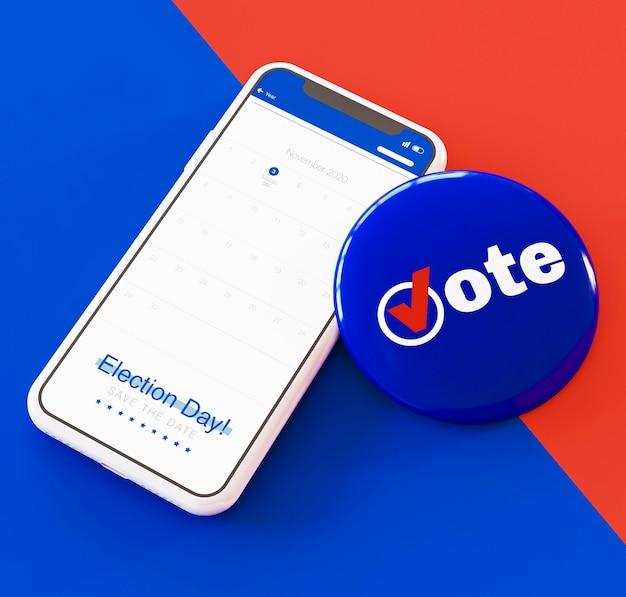 Ons verkiezingenconcept met exemplaarruimte Premium Foto