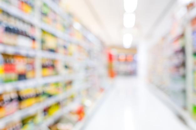 Onscherpe achtergrond, onscherpte supermarkt supermarkt bij winkelcentrum achtergrond Premium Foto