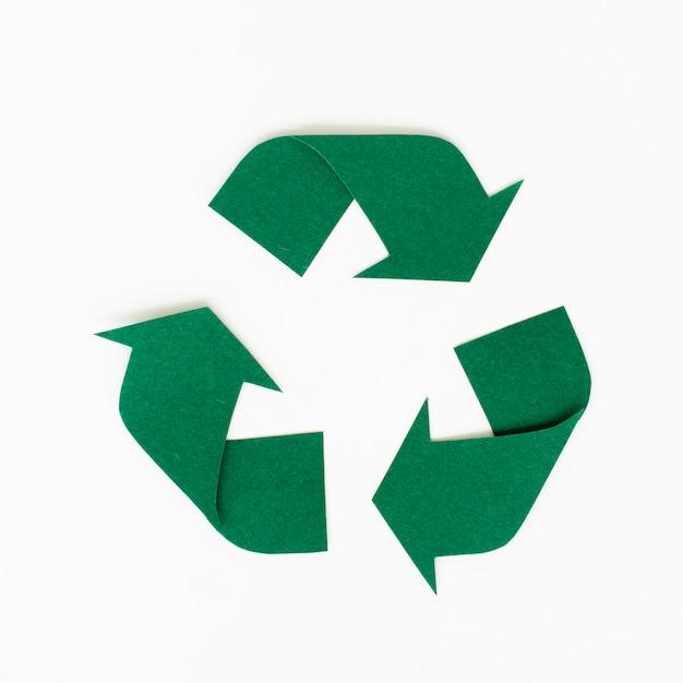 Ontwerp van de ambacht van papier van recycle pictogram Gratis Foto