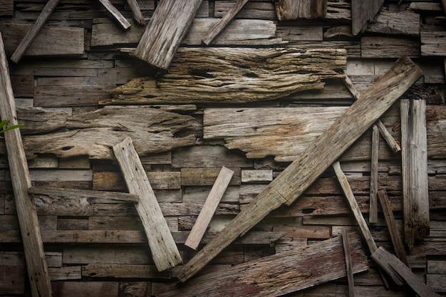 Ontwerp van de oude houten achtergrond van de planktextuur. Premium Foto