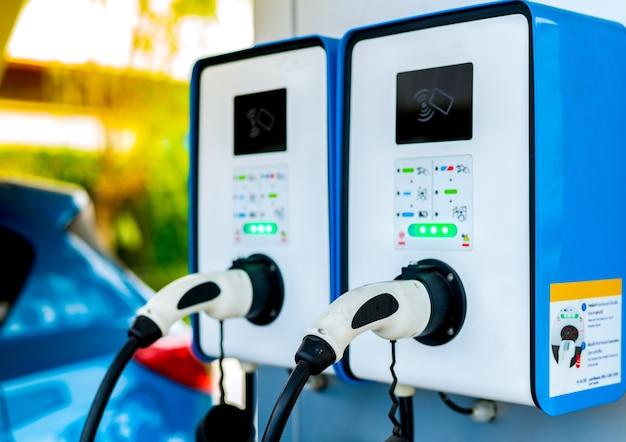 Oplaadpunt Elektrische Auto Stekker Voor Voertuig Met Elektromotor