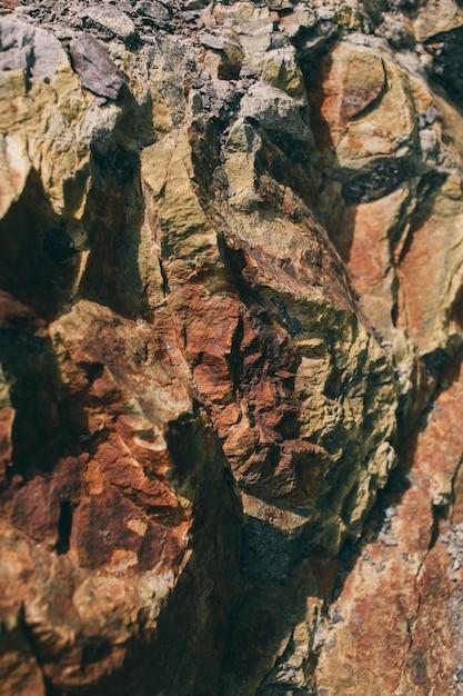 Oppervlak van het marmer met bruine tint stones textuur en achtergrond rock textuur Premium Foto