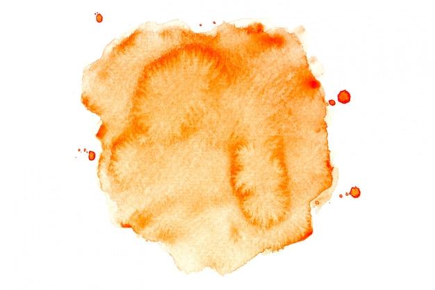 Oranje aquarel vlek met kleur tinten verf achtergrond Premium Foto