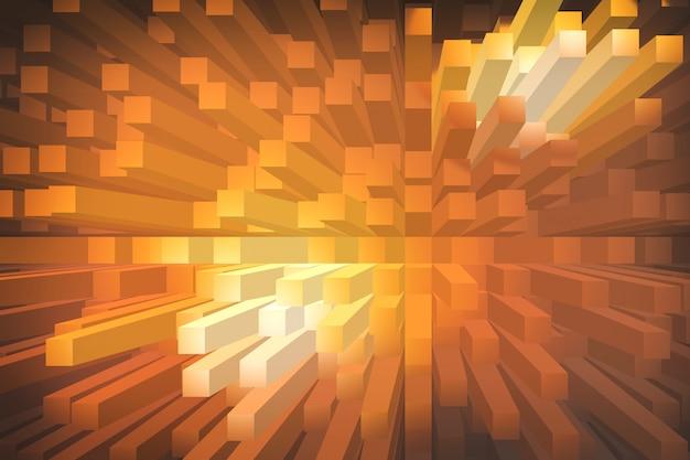 Oranje extruderen geometrische abstracte achtergrond Premium Foto