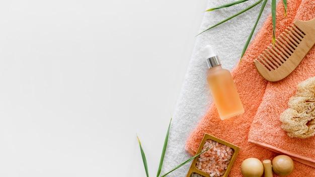 Oranje olie spa-behandeling concept Premium Foto