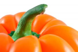 Oranje paprika close up pittig Gratis Foto