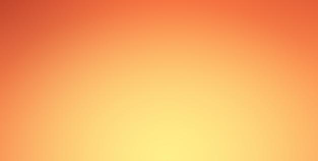 Oranje verloop achtergrond met schijnwerpers schijnen op midden en vignet grens. Premium Foto
