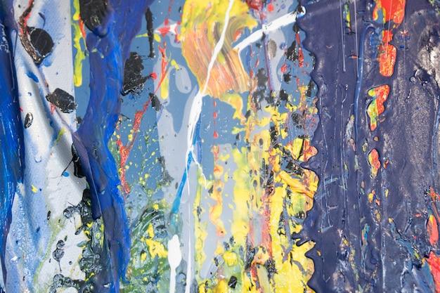 Origineel olieverfschilderij op canvas. kunst achtergrond. abstract schilderij textuur. Premium Foto
