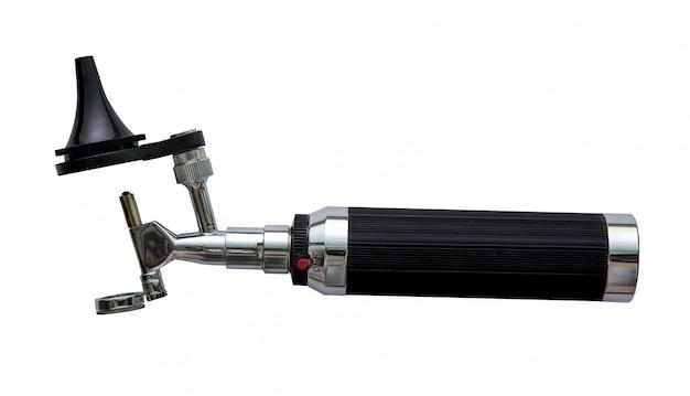 Otoscoop voor kno-arts onderzoek oor horizontale weergave Premium Foto