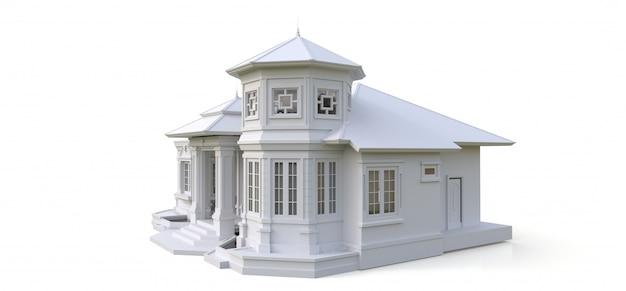 Oud huis in victoriaanse stijl Premium Foto