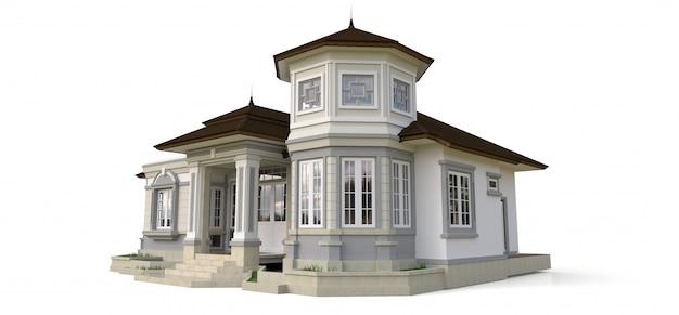Oud huis in victoriaanse stijl. Premium Foto