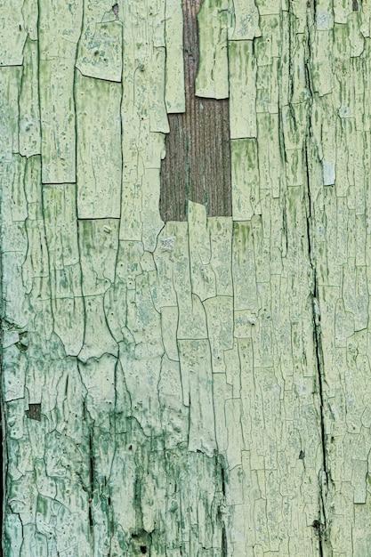 Oude bekrast groene houten achtergrond Gratis Foto