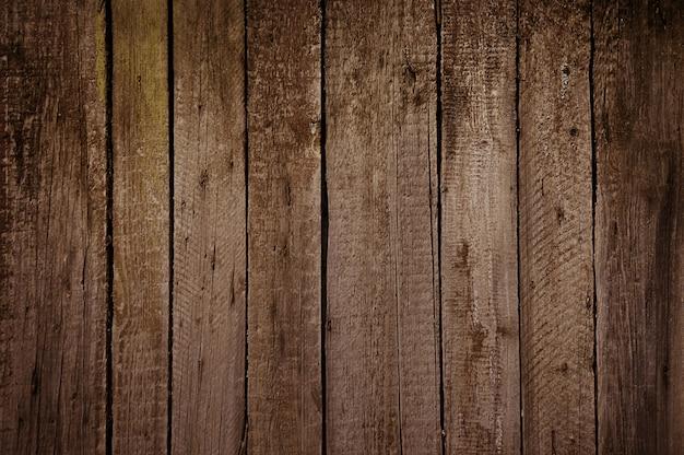 Oude bruine houten muurtextuur Premium Foto