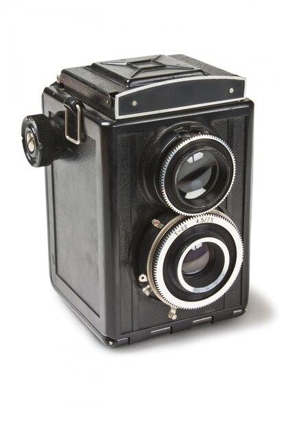 Oude camera geïsoleerd op wit Premium Foto
