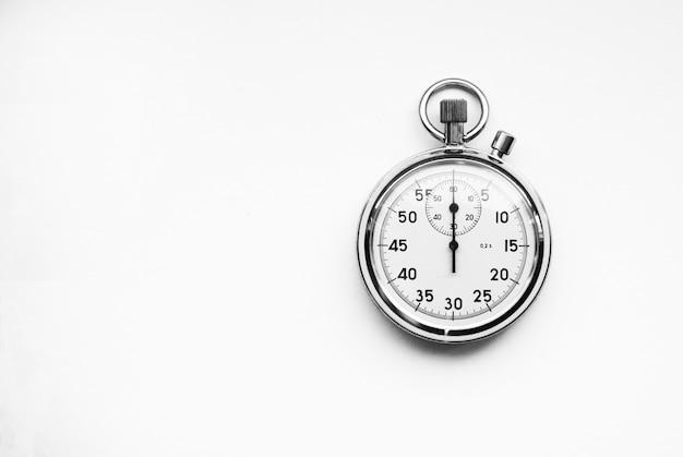 Oude chronometer geïsoleerd Premium Foto