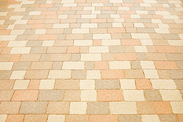 Oude de textuurachtergrond van de mozaïekbestrating Premium Foto