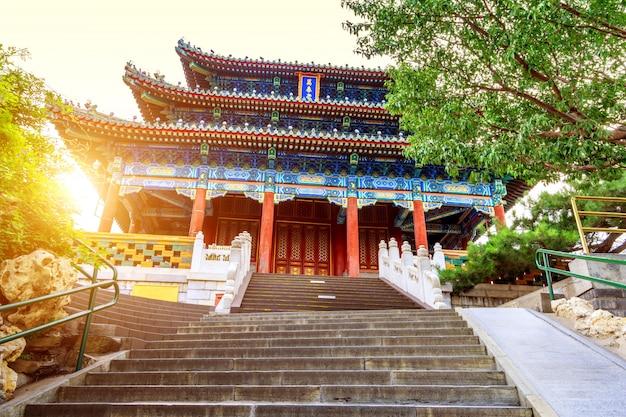 Oude gebouwen in peking Premium Foto