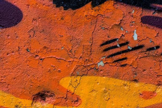 Oude geschilderde betonnen muur Premium Foto
