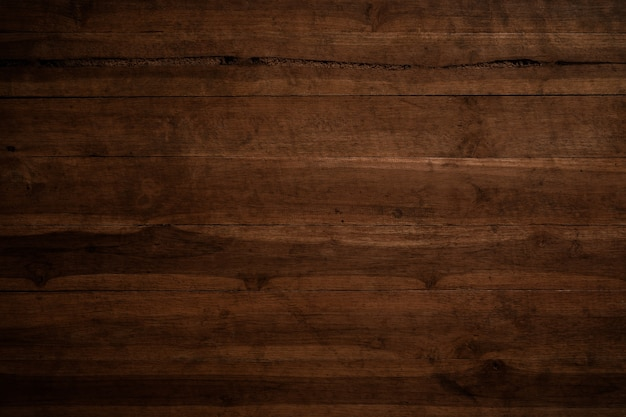 Oude grunge donkere geweven houten achtergrond, de oppervlakte van de oude bruine houten textuur Premium Foto