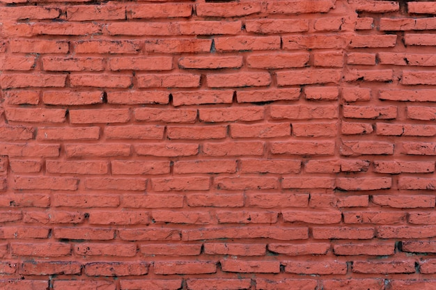 Oude horizontale bakstenen muur achtergrond Gratis Foto